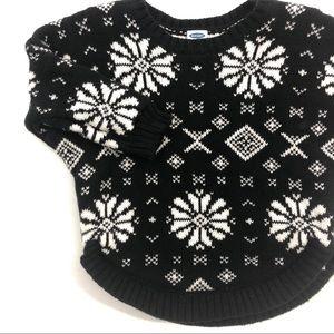 Old Navy Black & White fair isle infant sweater